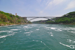 The Rainbow bridge and Niagara River Stock Photos