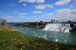 The Rainbow bridge and Niagara River Royalty Free Stock Photography