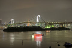 Rainbow Bridge at Night Royalty Free Stock Image