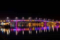 Rainbow bridge, Novi Sad, Serbia.  stock images