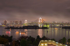 Rainbow bridge in Odaiba Royalty Free Stock Photo