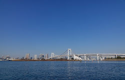 Rainbow Bridge at Odaiba district in Tokyo, Japan Royalty Free Stock Photos