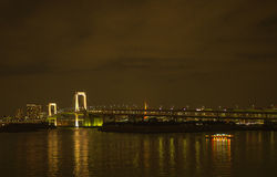 Rainbow bridge at odaiba, japan Stock Photography