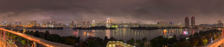 Rainbow bridge in Odaiba Stock Photos