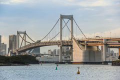 Rainbow bridge at Odaiba Stock Images