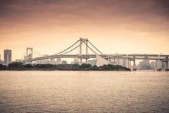 Rainbow Bridge in Odaiba, Tokyo Stock Image