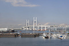 Rainbow bridge odaiba tokyo japan Stock Image