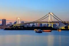 Rainbow bridge odaiba tokyo japan important destination to visit Stock Photography