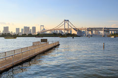 Rainbow bridge odaiba tokyo japan important landmark tourist vis Stock Photo
