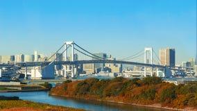 Rainbow Bridge in Odaiba, Tokyo, Japan Royalty Free Stock Images