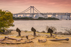 Rainbow Bridge in Odaiba, Tokyo Stock Images