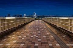 Rainbow Bridge in Odaiba, Tokyo Stock Photos