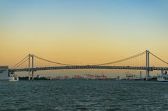 Rainbow bridge over Sumida river in Tokyo, Japan Stock Photography