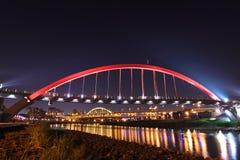 Rainbow bridge in taiwan Royalty Free Stock Photo