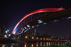 Rainbow bridge in taiwan Royalty Free Stock Photography