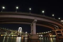 Rainbow Bridge,Tokyo Bay Stock Photo