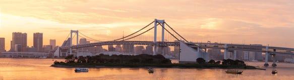 Rainbow bridge and Tokyo bay, Japan Royalty Free Stock Photo