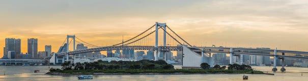 Rainbow bridge and Tokyo bay, Japan Royalty Free Stock Image