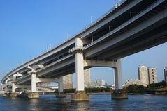 Rainbow Bridge, Tokyo, Japan Stock Photo