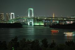 Rainbow Bridge,Tokyo,Japan Royalty Free Stock Photos