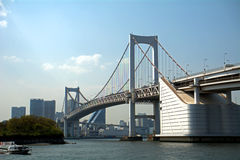 Rainbow Bridge, Tokyo, Japan Royalty Free Stock Photo