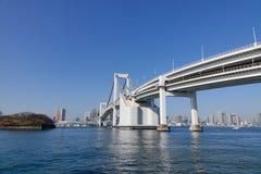 The Rainbow bridge in Tokyo, Japan Stock Images