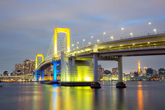 Rainbow bridge Tokyo Japan Stock Photo