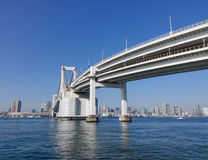 The rainbow bridge in Tokyo, Japan Royalty Free Stock Images