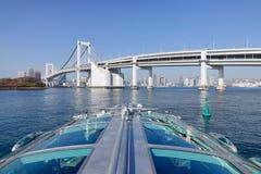 The rainbow bridge in Tokyo, Japan Royalty Free Stock Photos