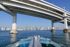 The Rainbow bridge in Tokyo, Japan Royalty Free Stock Photo