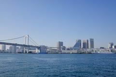 The rainbow bridge in Tokyo, Japan Stock Photo