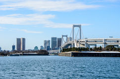 Rainbow bridge in Tokyo Japan Stock Image
