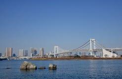 The rainbow bridge in Tokyo, Japan Royalty Free Stock Image
