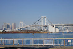 The rainbow bridge in Tokyo, Japan royalty free stock photography