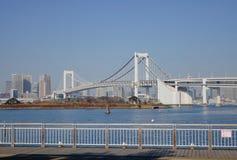 The rainbow bridge in Tokyo, Japan Royalty Free Stock Photography