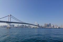 The rainbow bridge in Tokyo, Japan Royalty Free Stock Images