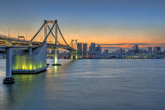 Rainbow Bridge, Tokyo, Japan Royalty Free Stock Image
