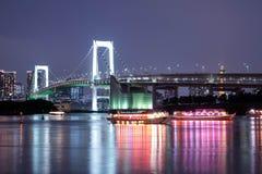 The Rainbow Bridge in Tokyo stock image
