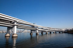 The Rainbow Bridge in Tokyo Stock Images