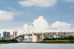 Rainbow Bridge in Tokyo Royalty Free Stock Photography