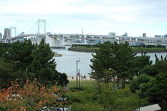 Rainbow bridge in Tokyo Royalty Free Stock Image