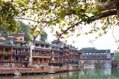 Rainbow Bridge on the Tuojiang River, Fenghuang ancient town, China Stock Photos