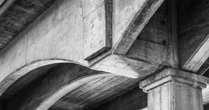 Rainbow Bridge. Underside section of the Rainbow Bridge in Folsom, CA as black and white Royalty Free Stock Images