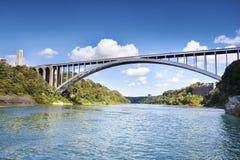 The Rainbow Bridge between the USA and Canada at Niagara Falls Stock Photography