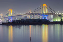 Rainbow bridge waterfront, Odiaba Japan Stock Images