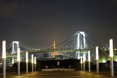 Rainbow bridget at Tokyo, Japan Stock Image