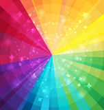 Rainbow bright background with rays Royalty Free Stock Image