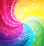 Rainbow bright background with rays Royalty Free Stock Photography