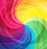 Rainbow bright background with rays Royalty Free Stock Images