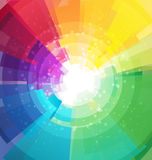 Rainbow bright background with rays Stock Image
